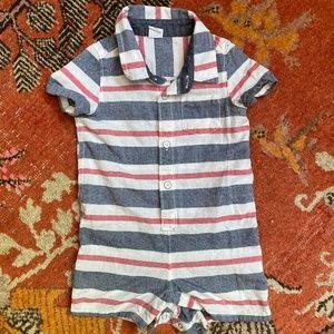 BabyGap Boys Red, White, Blue Stripe One-piece